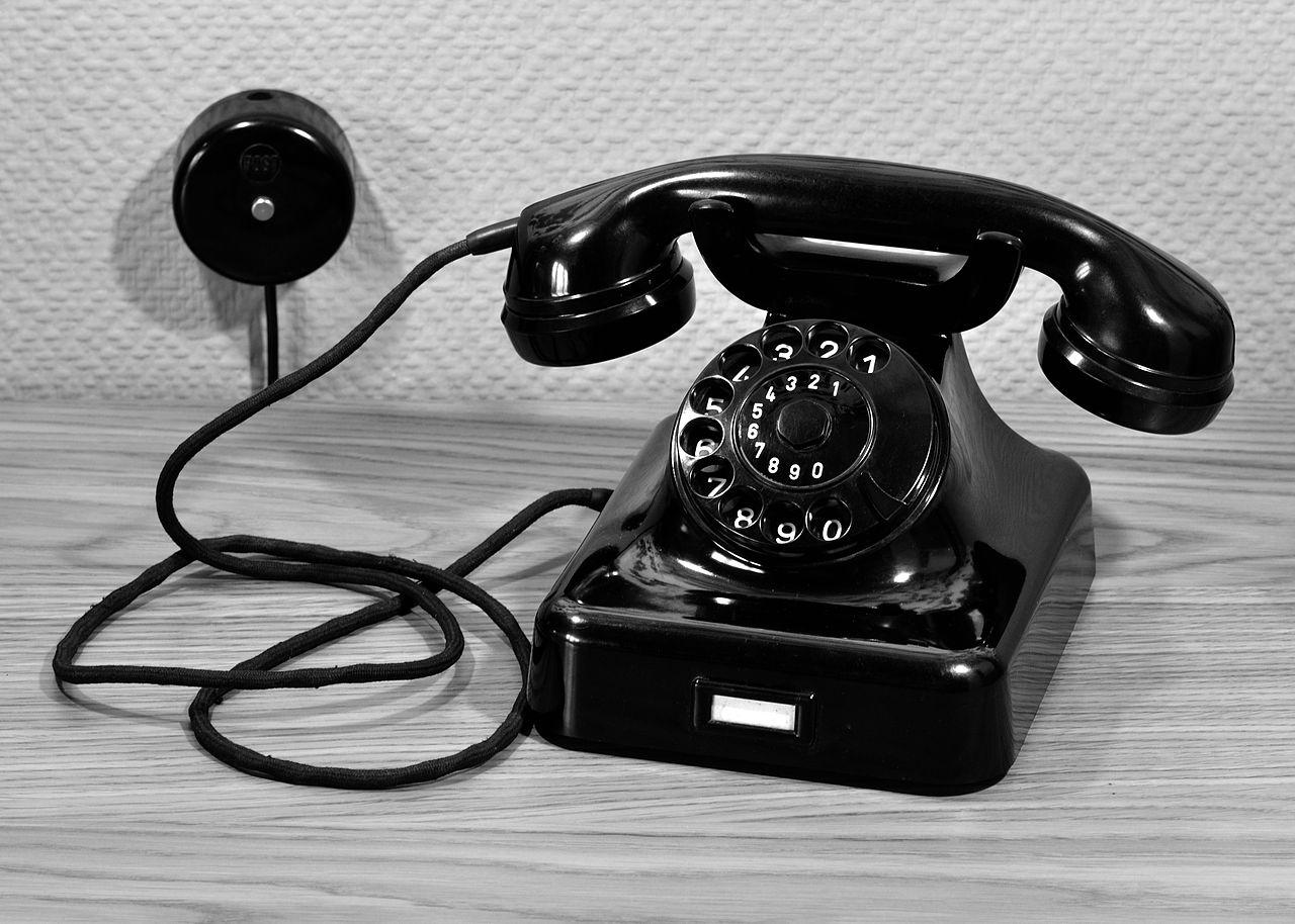 Foto: Telefon Bundespost W48 in schwarz
